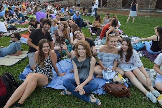 Open air cinema event in Montjuic