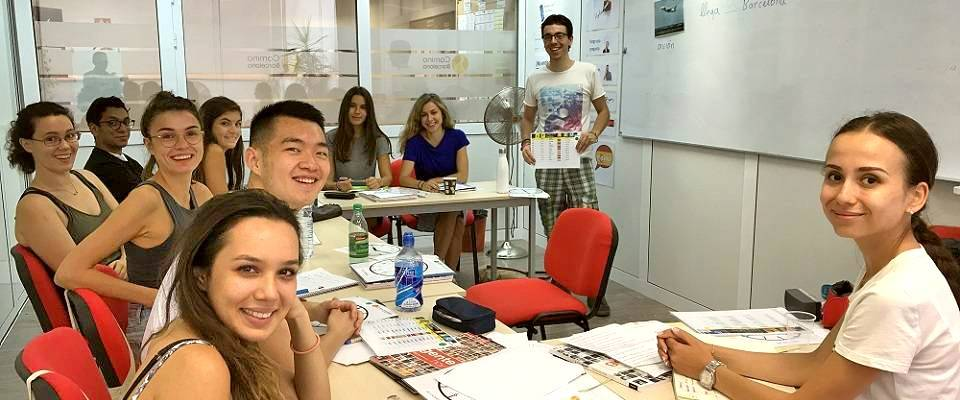 Asier with his Spanish intensive class