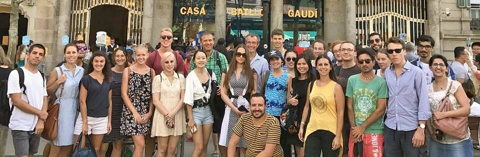 Our Spanish teacher Fabian in excursion in Barcelona with our students