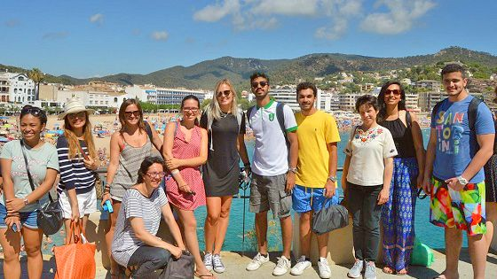 Our students visiting Tossa de Mar