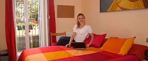 Student in our On-Site superior apartment