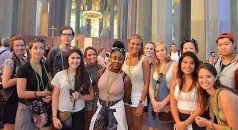 Our students visiting Sagrada Familia